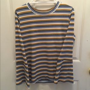 NWT Skies are Blue striped top flare at the wrist